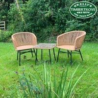 Rattan Table & Chairs Set